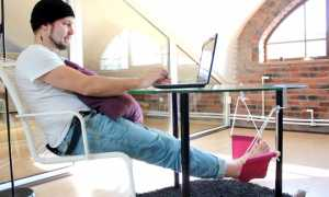 Гамак для ног под рабочим столом, инструкция по изготовлению своими руками, видео