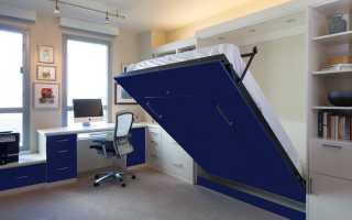 Откидные кровати с диваном, в шкафу, рабочие механизмы, видео